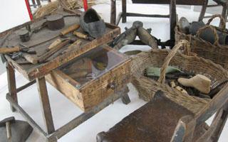 sezione dedicata al calzolaio