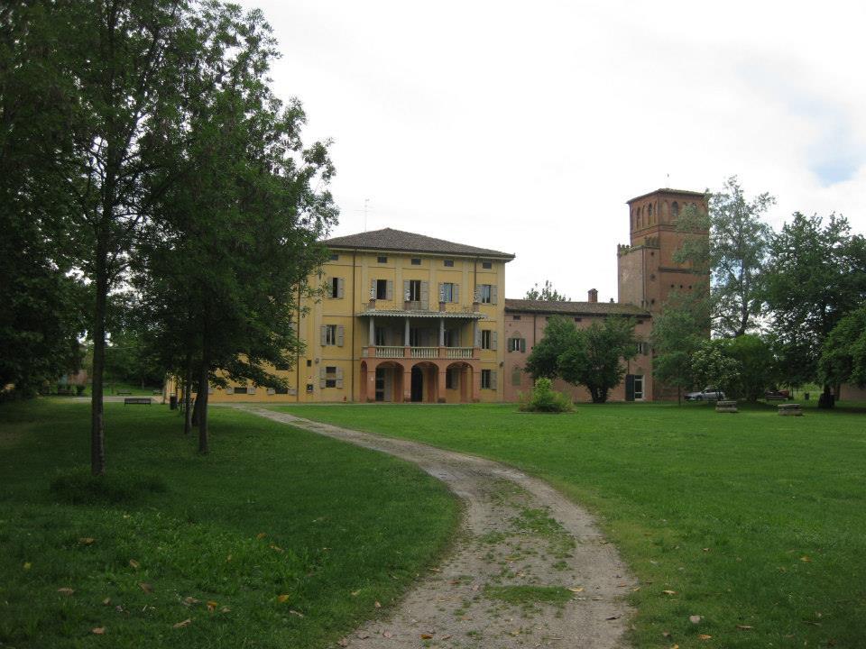 la villa vista dal parco